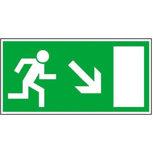 Sign Safety Fluchtwegschild langnachleuchtend Rettungsweg rechts abwärts 38.0023