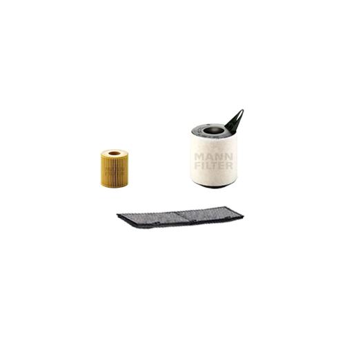 MANN-FILTER Filter Satz, Öl, Luft- und Innenraum- Aktivkohle Filter VSF0017MAN
