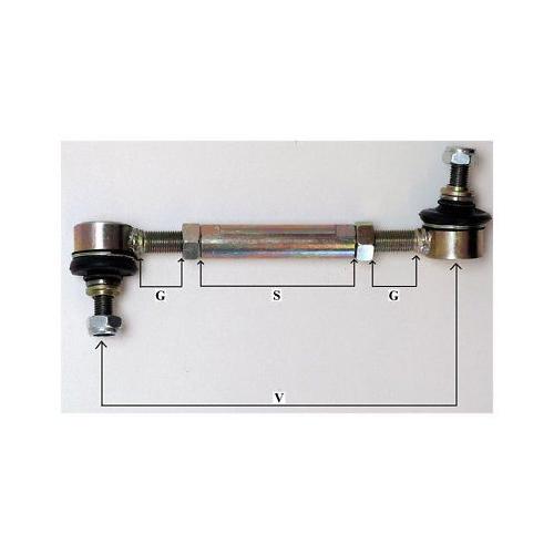 H&R verstellbare gekürzte Pendelstütze Koppelstange 140-320mm