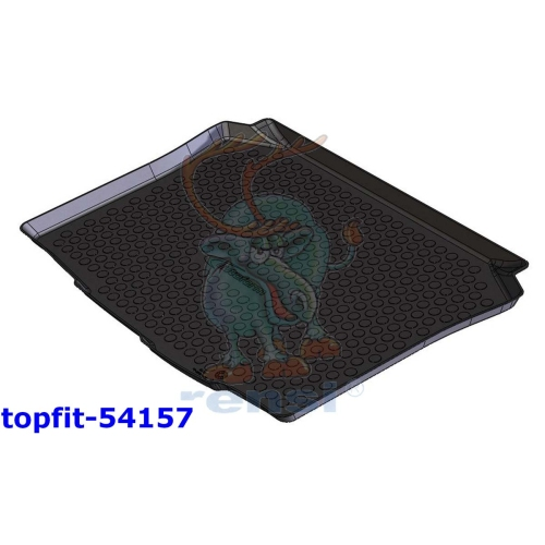RENSI 54157 Kofferraumschalenmatten Gewicht 1100 g