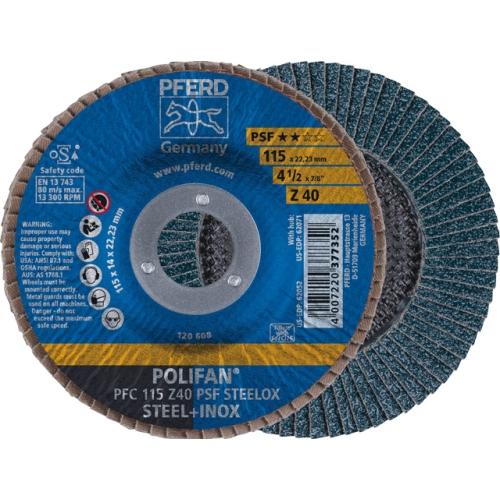 PFERD PFC115Z40PSF/22,23 Lamellenscheibe, Ø 115 mm, Körnung P 40