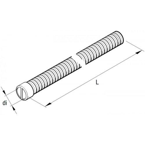 EBERSPÄCHER 251774890700 Flex-Rohr, Ø 24mm, L 800mm, 2-lagig mit Endkappe