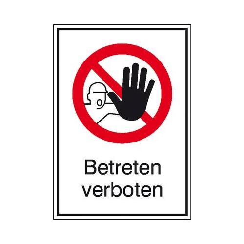 Sign Safety Verbots-Kombischild Betreten verboten 11.1141