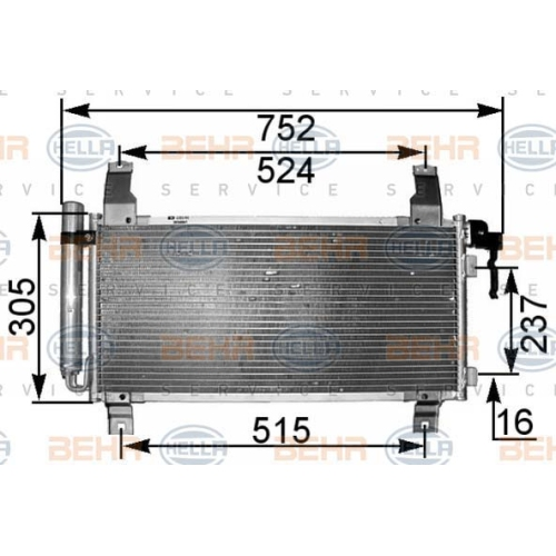 HELLA 8FC 351 038-541 Kondensator mit Trockner