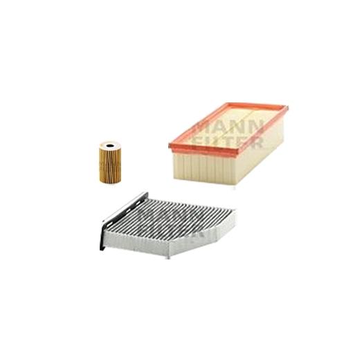 MANN-FILTER Filter Satz, Öl, Luft- und Innenraum- Aktivkohle Filter VSF0029MAN