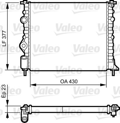 Radiator, engine cooling VALEO 731378 NISSAN RENAULT DACIA