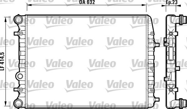 Kühler, Motorkühlung VALEO 732862