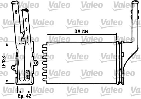 Heat Exchanger, interior heating VALEO 812016 CITROËN PEUGEOT