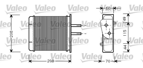 Wärmetauscher, Innenraumheizung VALEO 812145 FIAT