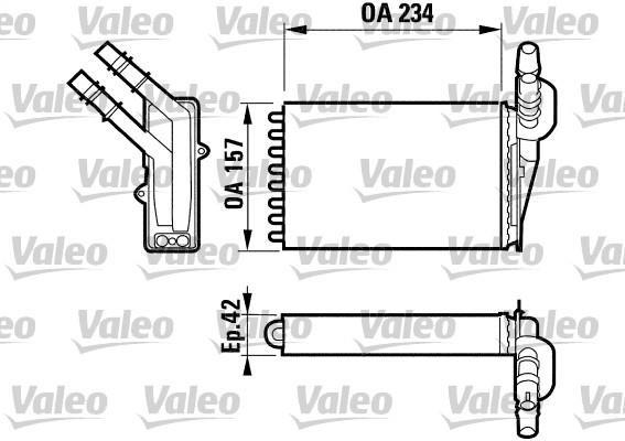 Wärmetauscher, Innenraumheizung VALEO 812169 RENAULT