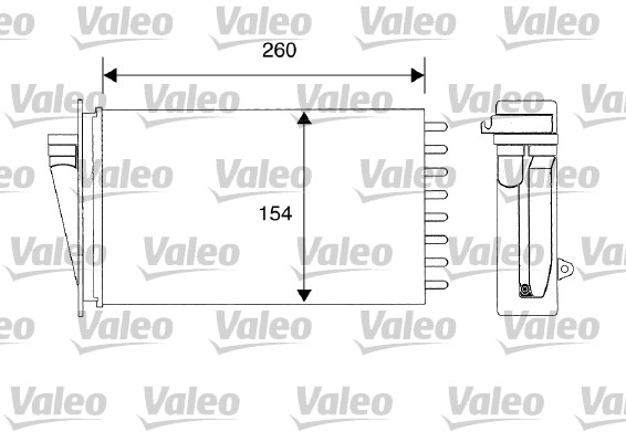 Heat Exchanger, interior heating VALEO 812194 FIAT