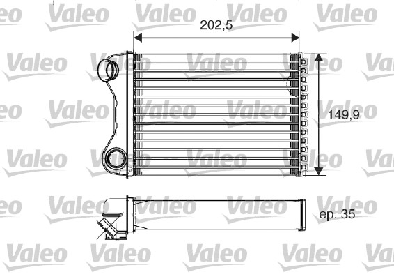 Heat Exchanger, interior heating VALEO 812211 FIAT