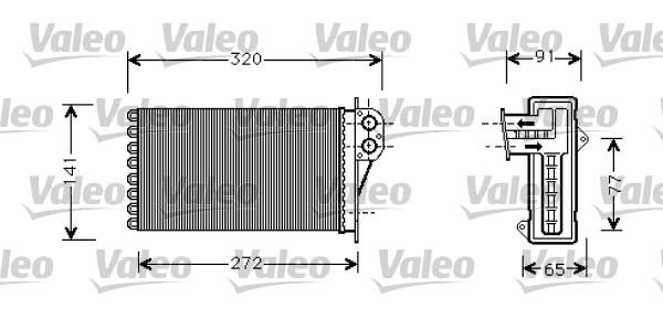 Heat Exchanger, interior heating VALEO 812221 CITROËN PEUGEOT