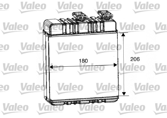 Heat Exchanger, interior heating VALEO 812222 OPEL VAUXHALL