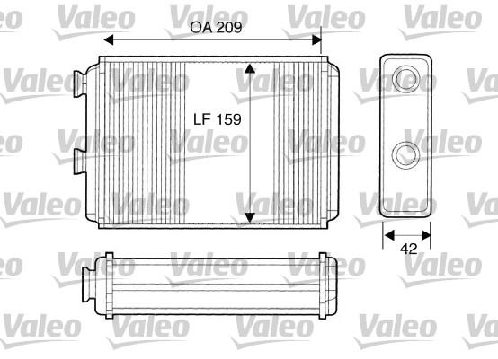 Wärmetauscher, Innenraumheizung VALEO 812280 FIAT LANCIA