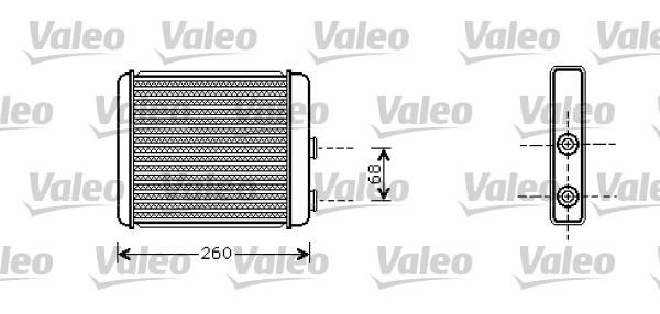 Heat Exchanger, interior heating VALEO 812285 OPEL VAUXHALL
