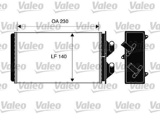 Wärmetauscher, Innenraumheizung VALEO 812303 FIAT