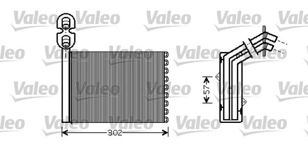 Heat Exchanger, interior heating VALEO 812324 FORD SEAT VW