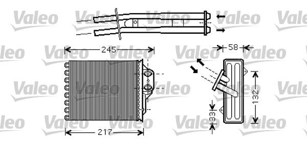 Wärmetauscher, Innenraumheizung VALEO 812336 FIAT