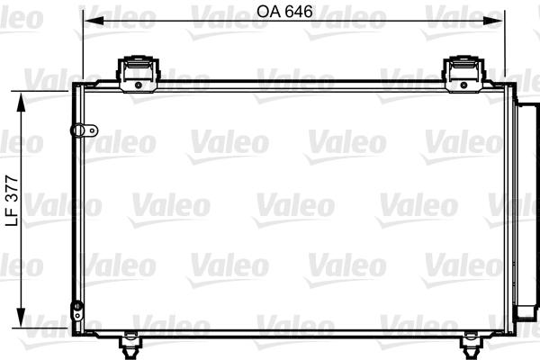 Condenser, air conditioning VALEO 814210 TOYOTA