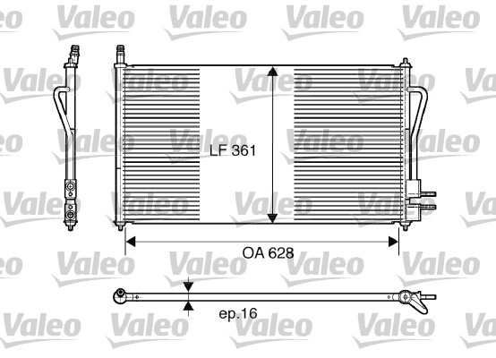 Condenser, air conditioning VALEO 817493 FORD