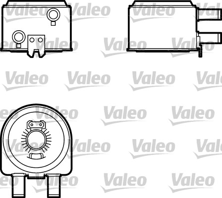 Oil Cooler, engine oil VALEO 817704 CITROËN FIAT LANCIA PEUGEOT