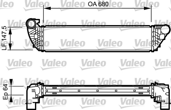 Ladeluftkühler VALEO 817828 RENAULT