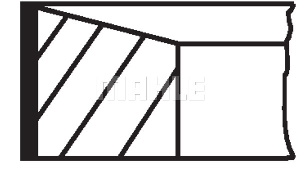 Kolbenringsatz MAHLE 015 05 N0 FORD