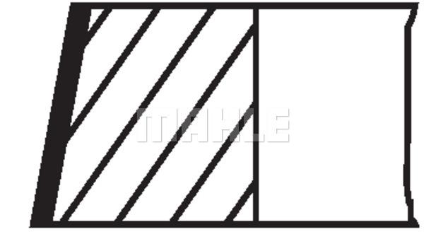 Kolbenringsatz MAHLE 503 80 N0 PORSCHE