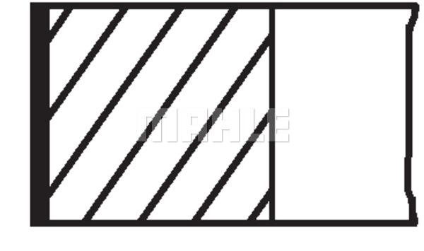 Piston Ring Kit MAHLE 040 04 N0 PEUGEOT