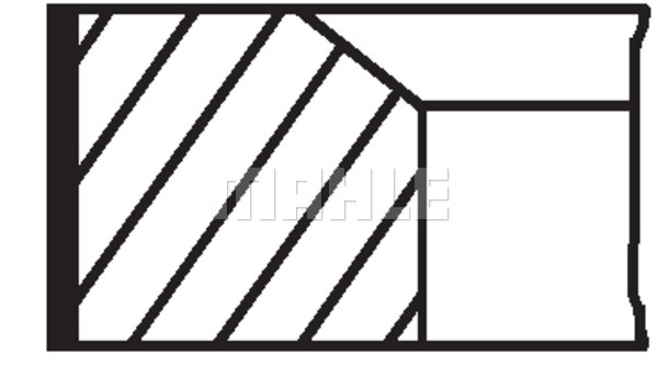 Kolbenringsatz MAHLE 021 58 V0 RENAULT