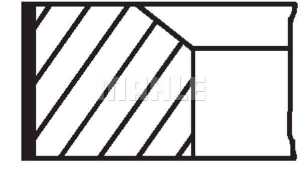 Piston Ring Kit MAHLE 022 10 N0 RENAULT