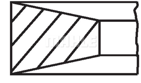 Kolbenringsatz MAHLE 011 RS 10101 0N2
