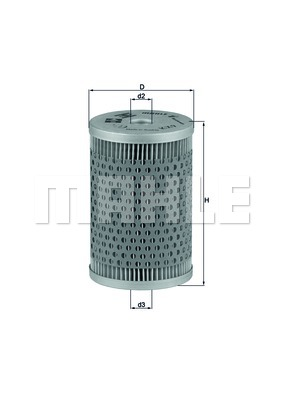 MAHLE ORIGINAL Fuel filter KX 9
