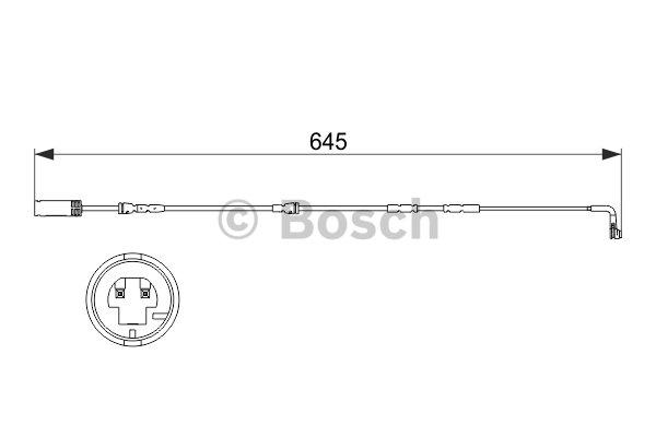 Warning Contact, brake pad wear BOSCH 1 987 473 504 BMW