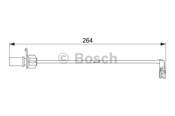 Warning Contact, brake pad wear BOSCH 1 987 474 517 AUDI VW