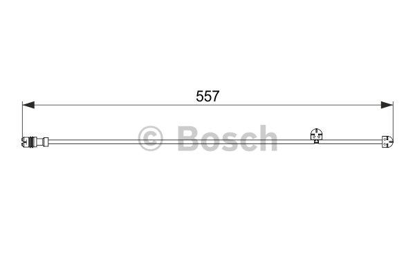 Warning Contact, brake pad wear BOSCH 1 987 474 555 PORSCHE