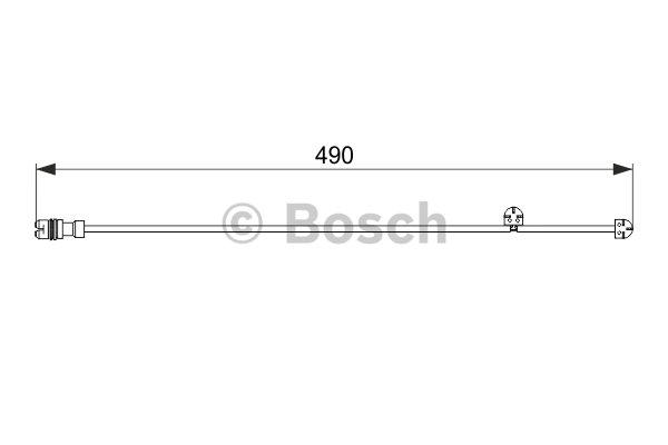 Warning Contact, brake pad wear BOSCH 1 987 474 560 PORSCHE