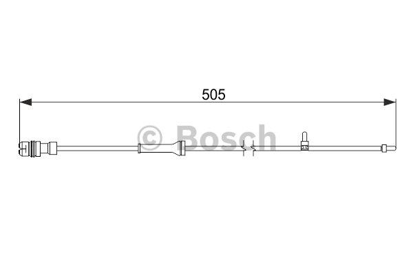 BOSCH Warning Contact, brake pad wear 1 987 474 592