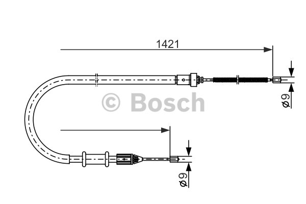 BOSCH Cable, parking brake 1 987 477 633