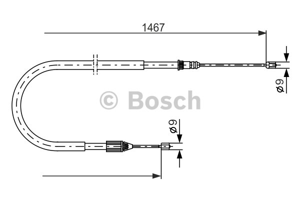 BOSCH Cable, parking brake 1 987 477 937
