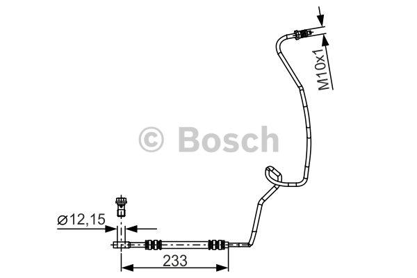 Brake Hose BOSCH 1 987 481 338 AUDI SEAT SKODA VW