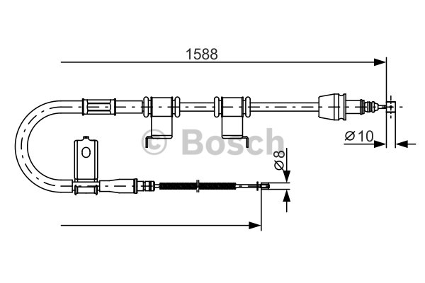 BOSCH Cable, parking brake 1 987 482 359