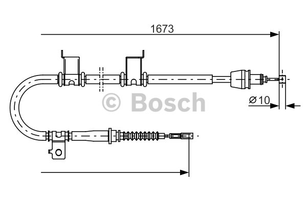 Cable, parking brake BOSCH 1 987 482 361 KIA