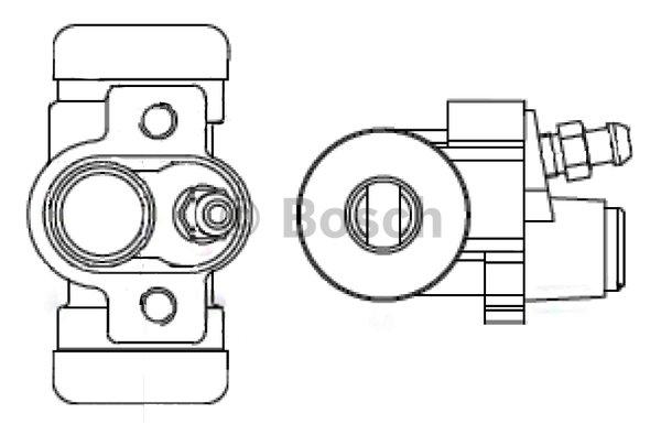 Wheel Brake Cylinder BOSCH F 026 002 384 SUZUKI