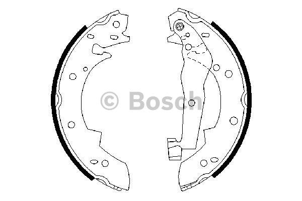 Brake Shoe Set BOSCH 0 986 487 013 ALFA ROMEO BMW RENAULT SUZUKI SANTANA