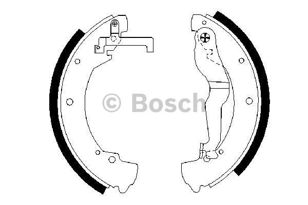 Bremsbackensatz BOSCH 0 986 487 312 AUDI SEAT SKODA VW