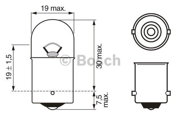BOSCH Bulb, brake/tail light 1 987 302 284