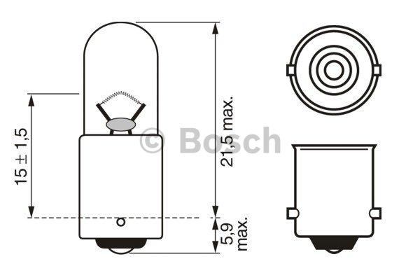 BOSCH Bulb, outline lamp 1 987 302 287