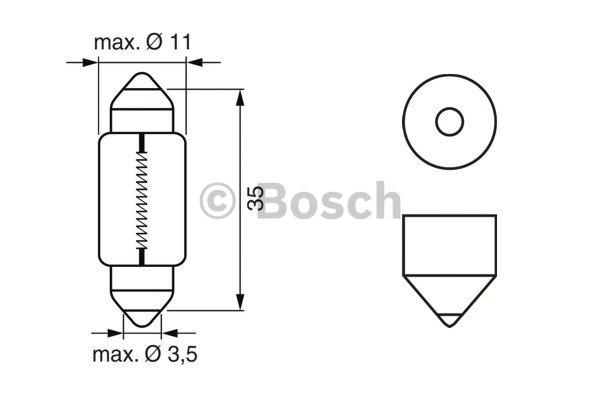 BOSCH Bulb, interior light 1 987 302 281